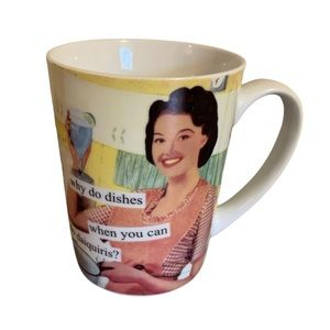 """Anne Taintor """"Why do Dishes?"""" Cheeky Ceramic Mug"""
